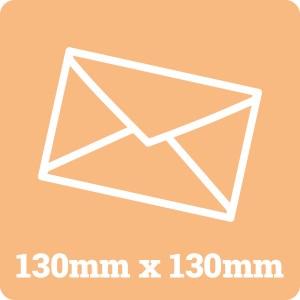 130mm Square White Envelope