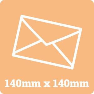 140mm Square White Envelope