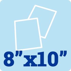 8 x 10 White 300gsm Card