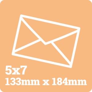 5x7 White Envelope
