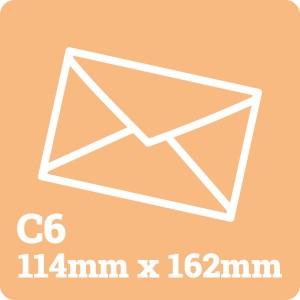 C6 White Envelope
