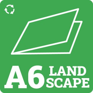 A6 Landscape Recycled Card Blank