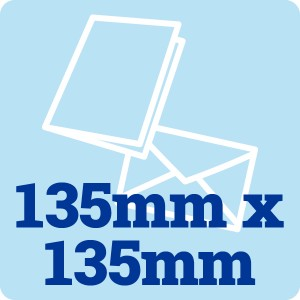 50 x 135mm Square 300gsm Card Blanks and Envelopes