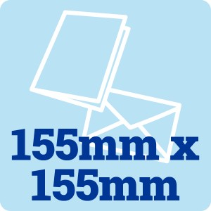 50 x 155mm Square 300gsm Card Blanks and Envelopes