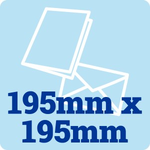 50 x 195mm Square 300gsm Card Blanks and Envelopes
