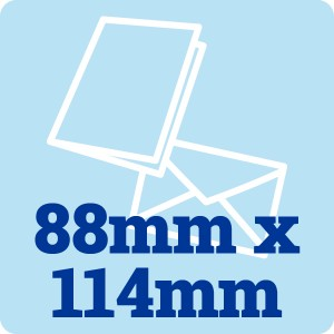 50 x 88mm by 114mm Card Blanks and Envelopes