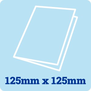 125mm Square White Card Blank