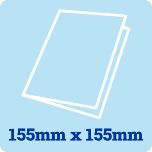 155mm Square White Card Blank