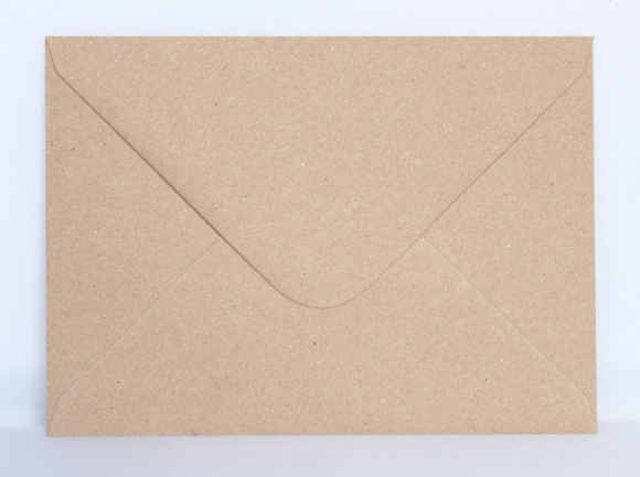 5 by 7 Kraft Recycled Envelope