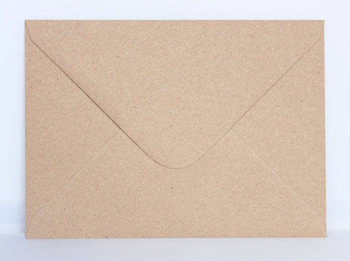 5 by 7 Kraft Recycled Envelope