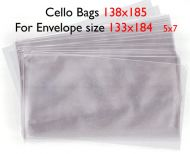 138mm by 185mm Bio-degradable Cello Bag