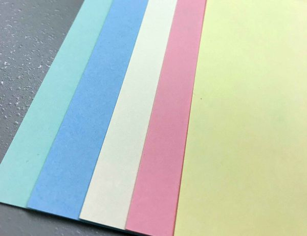 50 x 135 Square Card Blank Mixed Pastel Colours