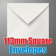 113mm Square White Envelope