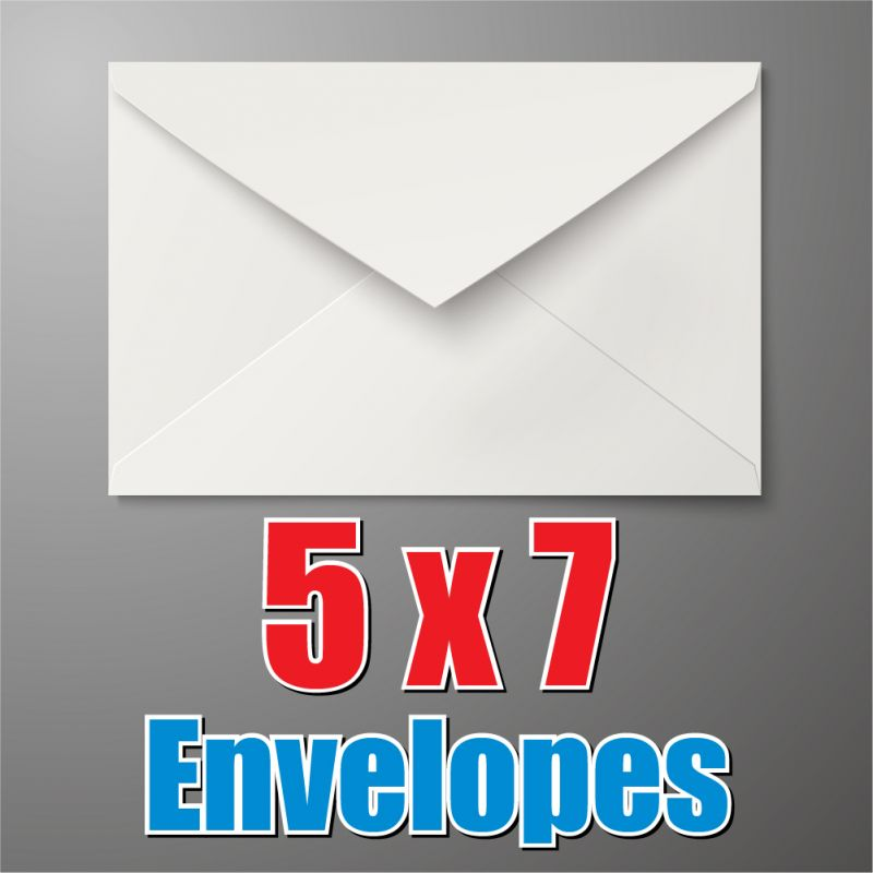 5 by 7 White Envelope